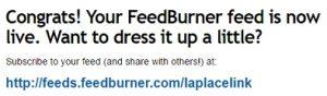 feedburner入力画面
