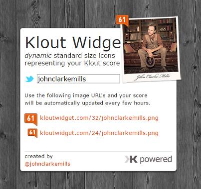 Klout Widge